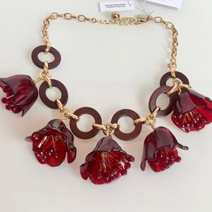 Kate Spade Slice Of Stone Link Statement Necklace